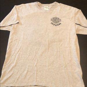 Gray Harley Davidson Native Short Sleeve Shirt